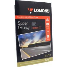 Бумага Lomond 1106100 Фото суперглянцевая, A4, 270 г/м2, 20 листов