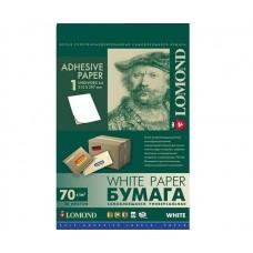 Бумага Lomond 2100055 Самоклеящаяся универсальная бумага для этикеток, A4, 10 шт. (105 x 59.4 мм), 70 г, м2, 50 листов